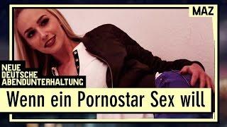 Wenn ein Pornostar Sex will   Lucy Cat übernachtet bei Andreas