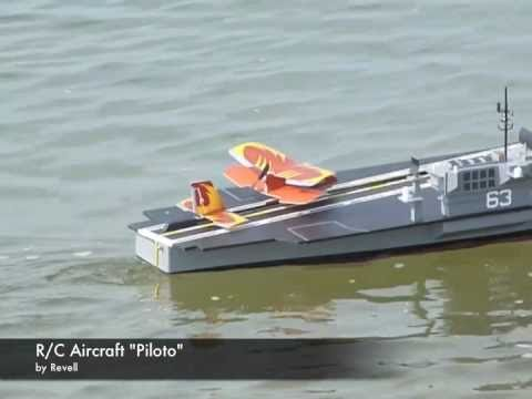 R/C Aircraft Carrier Launches R/C Airplane!