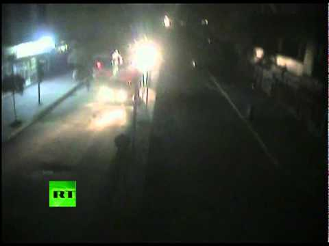Shock CCTV: Turkey earthquake tremor & blackout caught on camera