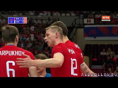 Волейбол. Лига наций 2018. Россия - Канада 25.05.2018. Блок в минус метр!!