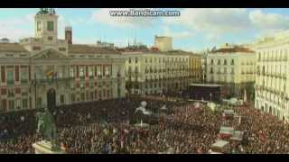 Hundreds of thousands march in Madrid in show of strength for Spain