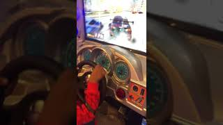 Kid Driving Race Car WINS at Chuck E. Cheese