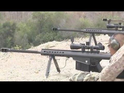 Крупнокалиберная снайперская винтовка Barrett M107 / Учебный центр морской пехоты США.