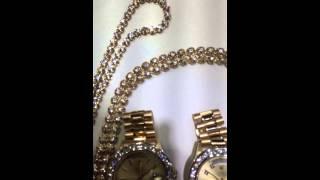 Rolex and tennis chains custom made by Mr Chris Da Jeweler