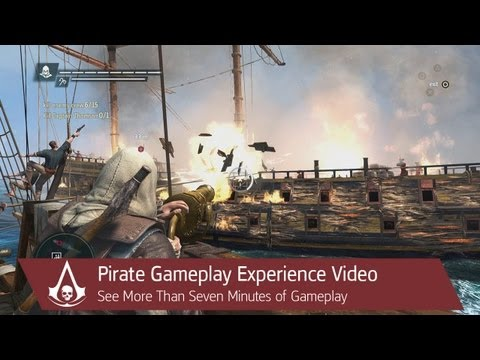 Pirate Gameplay Walkthrough Video: Naval Exploration | Assassin's Creed 4 Black Flag [North America]