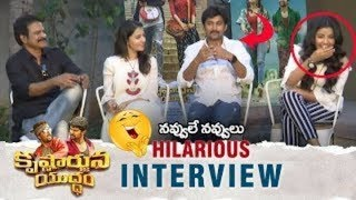 Krishnarjuna Yuddham Movie Team Hilarious Interview | Hero Nani | Anupama Parameswaran | Brahmaji