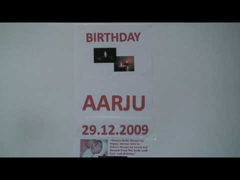 HAPPY BIRTHDAY AARJU