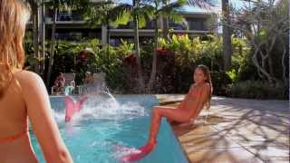 MerFins Commercial - Showcasing mermaid tails created by Mahina Mermaid at Oceanika MerFins.