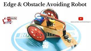 How to Make a Edge Avoider robot | Obstacle avoiding robot or car using ir sensor