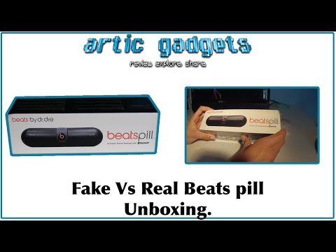 Beats pill unboxing Fake vs real.