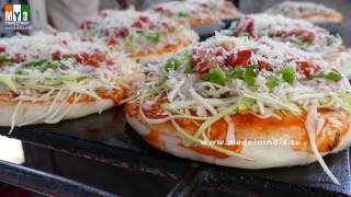 How to make Vegetable Pizza | Best Veggie Pizza Recipe street food
