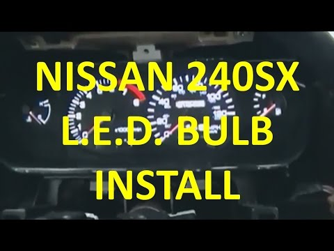 Install LED Bulbs In The Gauges And A/C Controls