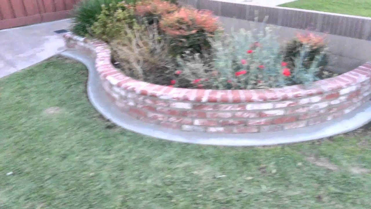 Brick planter youtube for Brick flower garden designs