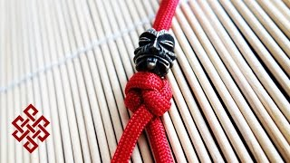 How to Tie a Simple Two Strand Paracord Lanyard Knot Tutorial - Ashley Book of Knots #802