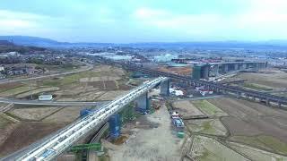 相馬福島道路 桑折高架橋 工事進捗状況