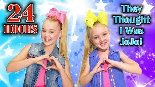 24 Hour Challenge as JoJo Siwa GONE WRONG!!! They Thought I Was the REAL JOJO!!!