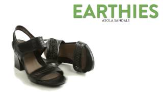 Earthies Asola Sandals - Laser-Cut Leather (For Women)
