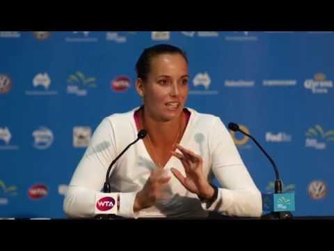 Jarmila Gajdosova press conference (QF) - Apia International Sydney 2015