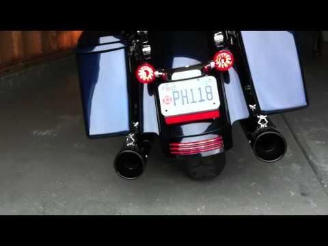 2012 Harley Davidson Street Glide Dresser Duals and 4 inch Rinehart Slip-ons