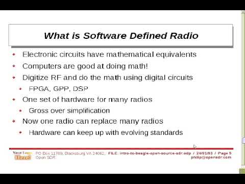 Intro to Beagle Software Defined Radio