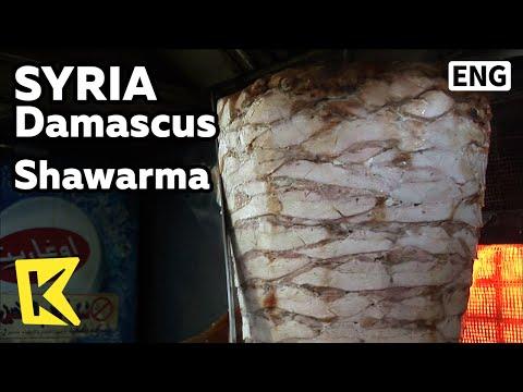 【K】Syria Travel-Damascus[시리아 여행-다마스쿠스]양고기 샌드위치, 샤와르마/Shawarma/Lamb Sandwich/Kebab/Food