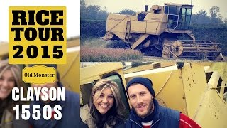 New Holland Clayson 1550s  - Rice tour 2015 -