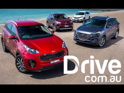 Kia Sportage v Hyundai Tucson v Honda CR-V v Toyota RAV4   Drive.com.au