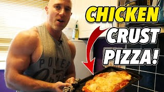 Protein Pizza Recipe! How To Make A Chicken Crust, Low Carb PIZZA!