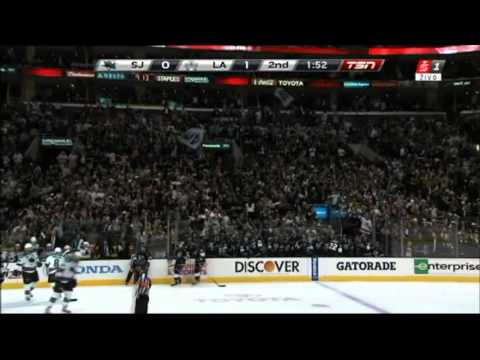 San Jose Sharks vs. Los Angeles Kings (Game 5-Kopitar Score for 1:0)