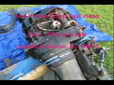 85 HP Mercury Outboard motor Describtion Video 1 of 2