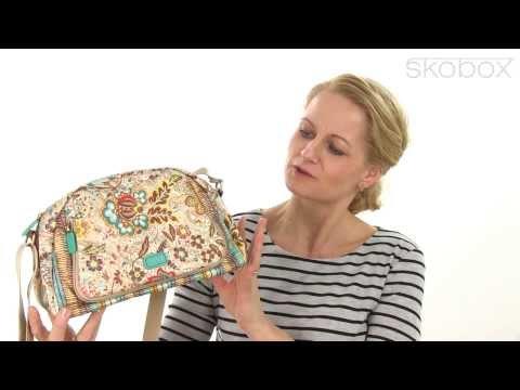 Skobox - Oilily skuldertaske i lysbrun mønster - Køb Oilily tasker online
