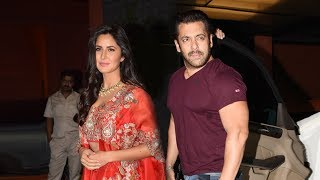Salman Khan And Katrina Kaif Together At Arpita Khan's DIWALI Party 2017