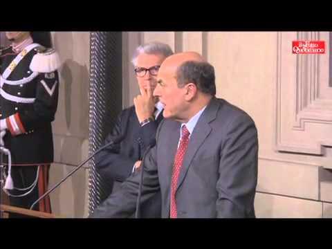 """Consultazioni, Bersani: """"Non inseguiamo Grillo, il Pd vuole il cambiamento, forze collaborino"""""""