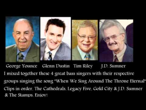 George Younce, Glenn Dustin, Tim Riley, JD Sumner sing When we sng around the throne eternal