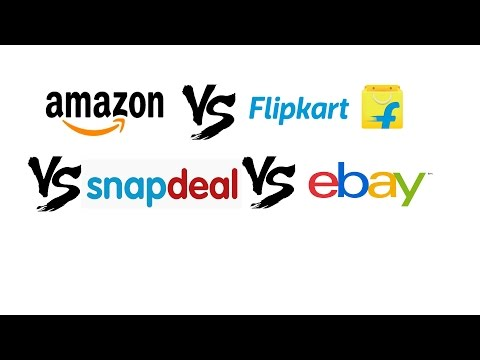 Amazon vs Flipkart vs Snapdeal vs Ebay