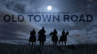 "Lil Nas X - I Got The Horses In The Back ""Old Town Road"" (Lyrics)"