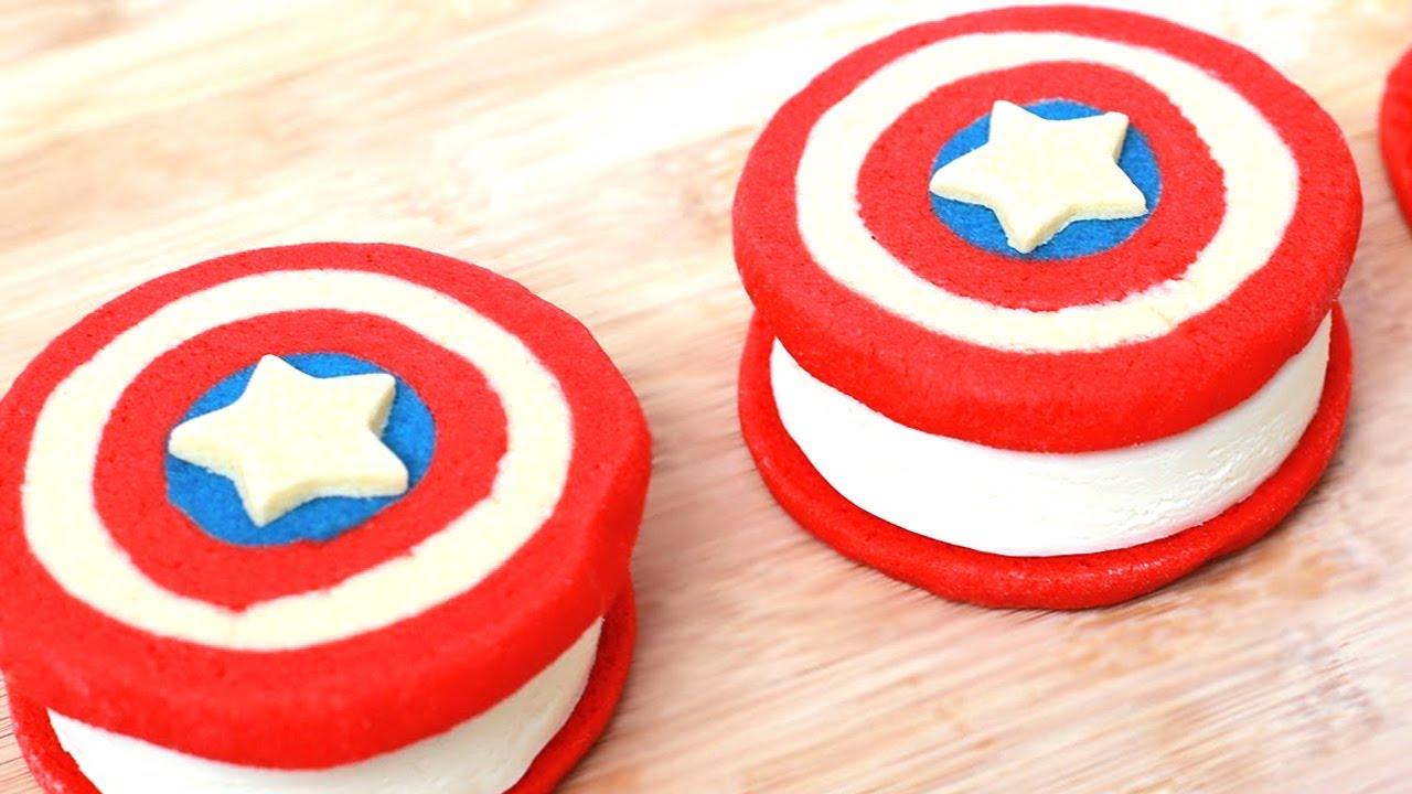 Captain America Ice Cream Cake