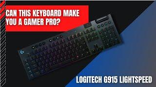 Logitech G915 Lightspeed WIRELESS MECHANICAL Gaming Keyboard - Ultra-Thin Design