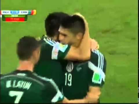 Univision's live call of Mexico 2014 World Cup first goal by Oribe Peralta