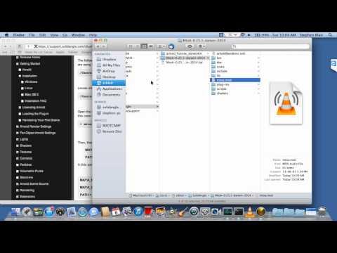 Installing MtoA on Mac OS X