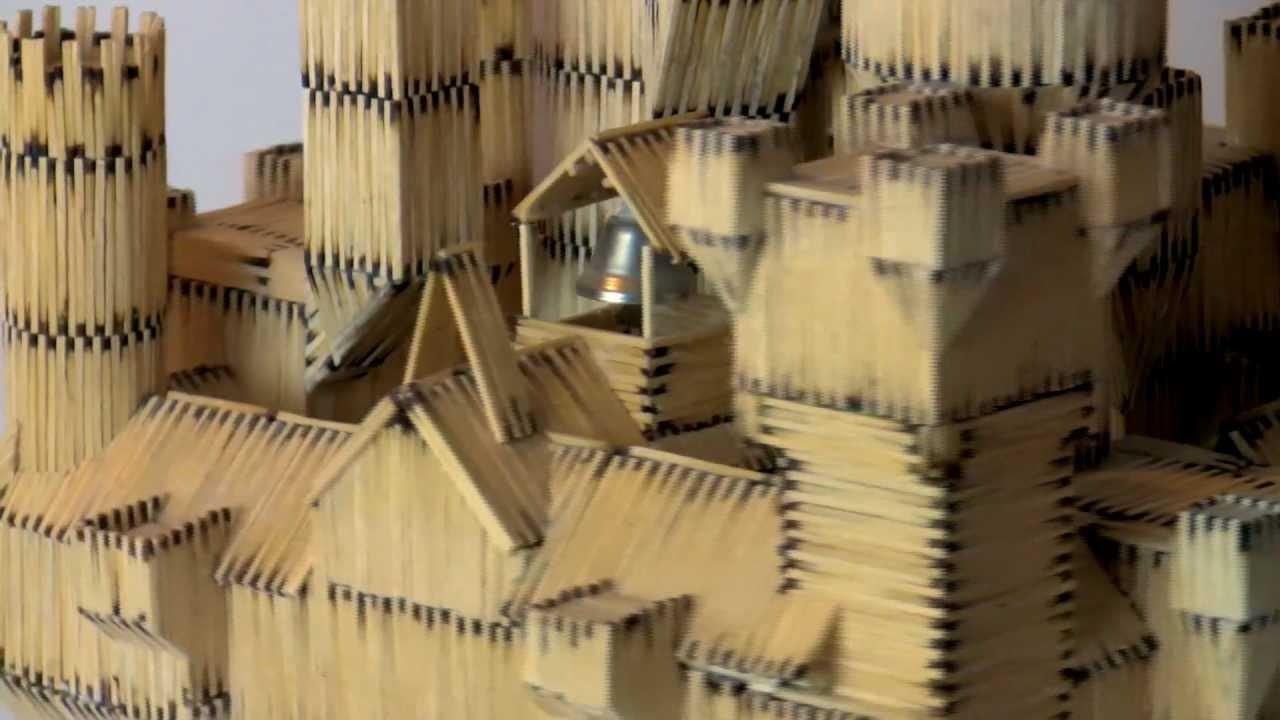 zamek z zapałek - YouTube Shakira Waka Waka