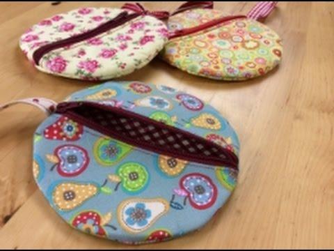 Circle wristlet sewing tutorial  by Debbie Shore