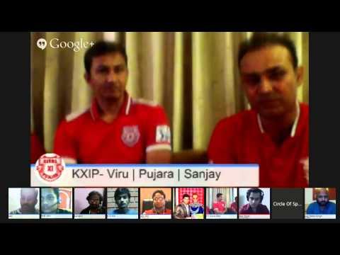 #KXIP Hangout | Virender Sehwag | Cheteshwar Pujara | Sanjay Bangar
