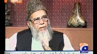 Syed Munawar Hasan Exclusive Interview   JIRGA   Part1