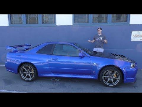 Обзор легального в США R34 Nissan Skyline GT-R