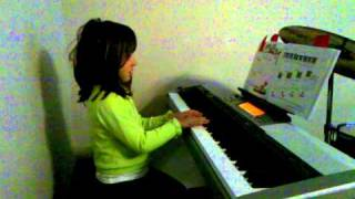 Macie, 5 yrs, just learning the piano