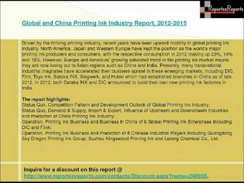 Global and China Printing Ink Industry
