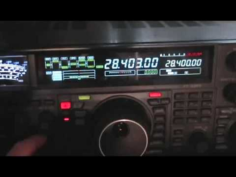 10 Meter Ham Radio E's band opening to Europe
