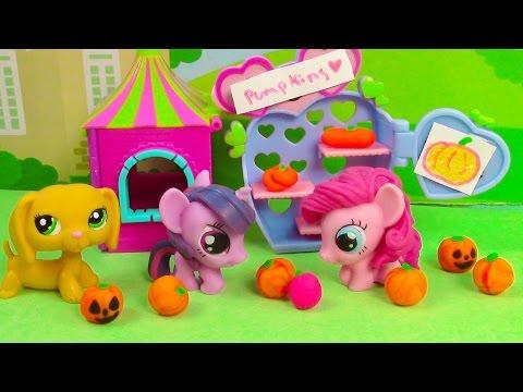 Mlp Cute Pumpkin Patch Halloween Fashems My Little Pony Littlest Pet Shop Play-doh Lps video