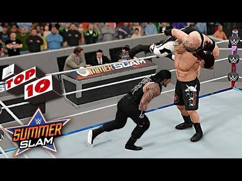 WWE Top 10 SummerSlam 2017 Predictions! WWE 2K17